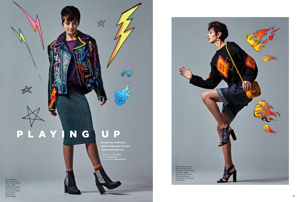 Fashion Quarterly page layout